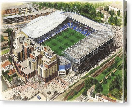 Stamford Bridge Canvas Print - Stamford Bridge - Chelsea by Kevin Fletcher