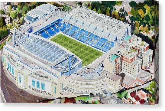 Stamford Bridge Canvas Print - Stamford Bridge Stadia Art - Chelsea Fc by Brian Casey