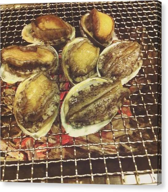 Oysters Canvas Print - #stamina #food #oyster #wtf #omg by Wilfred Lee