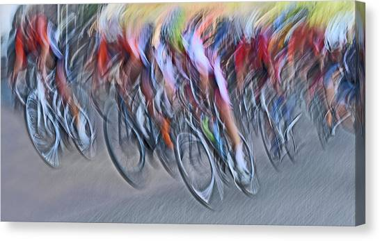 Stampede Canvas Print by Lou Urlings