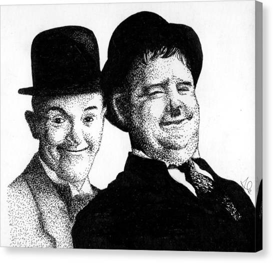 Stan And Oliver Canvas Print