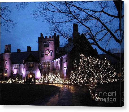 Stan Hywet Hall And Gardens Christmas  Canvas Print