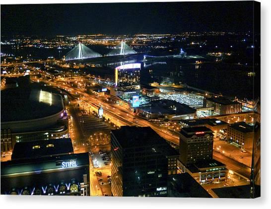 Stan Musial Bridge In St Louis Mo Dsc03215 Canvas Print