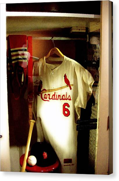Stan The Man's Locker Stan Musial Canvas Print