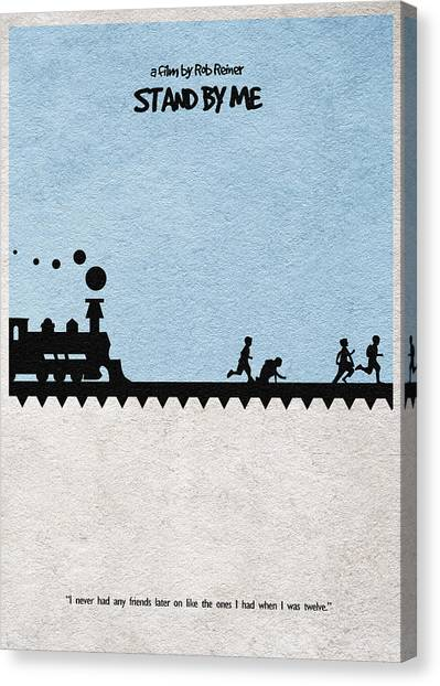 Trains Canvas Print - Stand By Me by Inspirowl Design