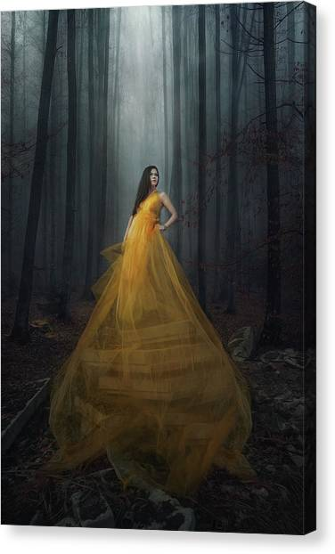 Dress Canvas Print - Stand Here by Afiez Appleproject