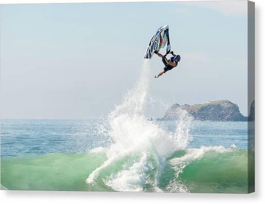 Jet Skis Canvas Print - Stand Up Jet Ski Barrel Roll Nac Nac by Marcos Ferro