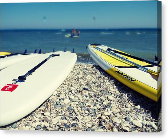 Surf Canvas Print - Stand Up Paddle Boards by Stelios Kleanthous