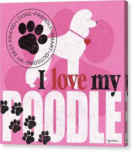 Poodle Canvas Print - Standard Poodle by Kathy Middlebrook