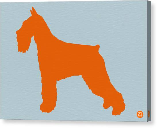 Schnauzers Canvas Print - Standard Schnauzer Orange by Naxart Studio