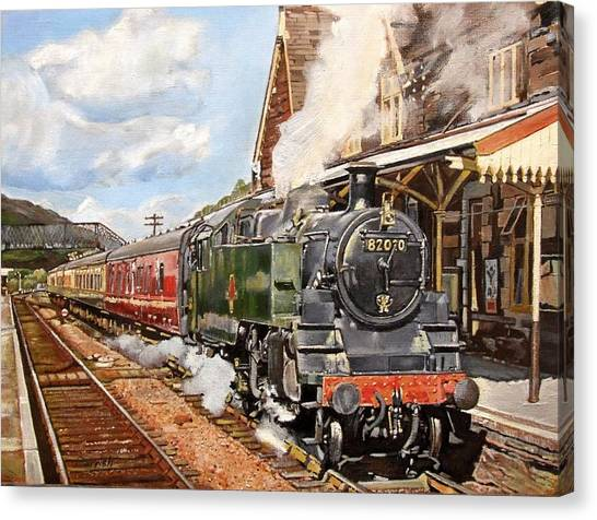 Steam Trains Canvas Print - Standard Splendour, 2008 Oil On Canvas by Kevin Parrish