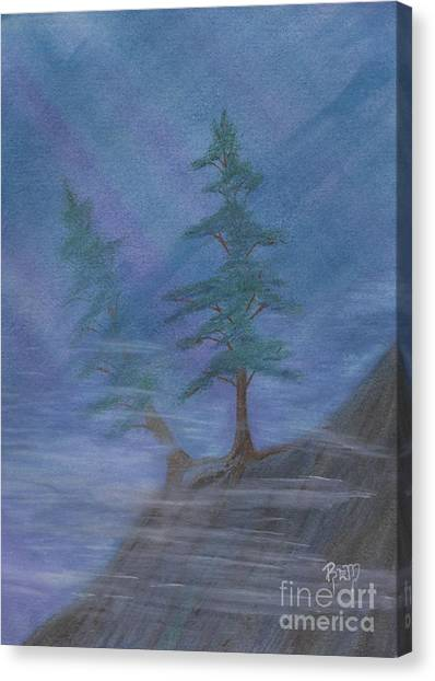 Standing Alone Canvas Print by Robert Meszaros