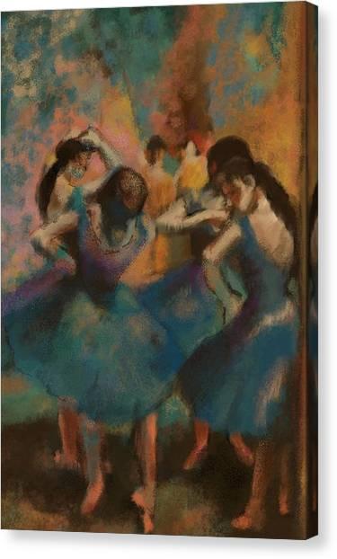 Standing Ballerinas Canvas Print