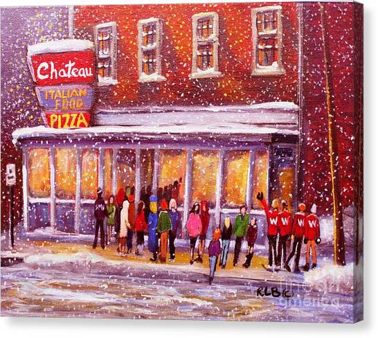 High School Canvas Print - Standing In Line At The Chateau by Rita Brown