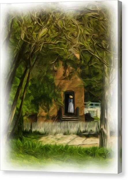 Standing In The Doorway Canvas Print
