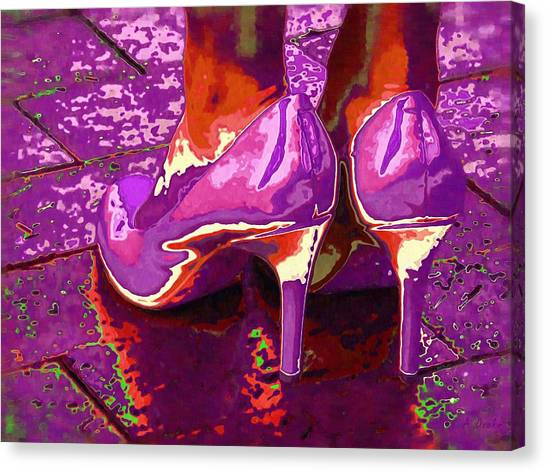 Standing In The Purple Rain Canvas Print