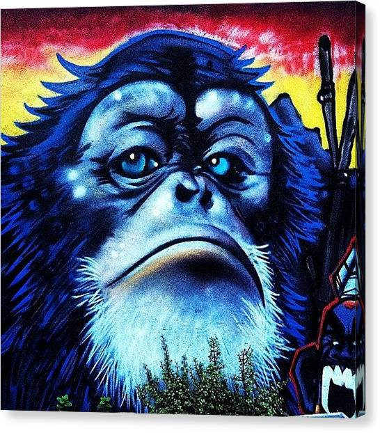Apes Canvas Print - Standing Proud. #streetart At The Ed by Andrew Coulson