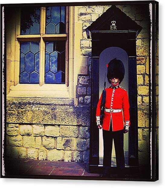 Tower Of London Canvas Print - Standing Strong  by Heidi Hermes