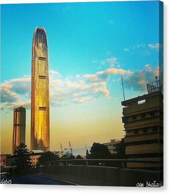 Om Canvas Print - Standing Tall... #ifc #hk #hongkong by Om Bhatia
