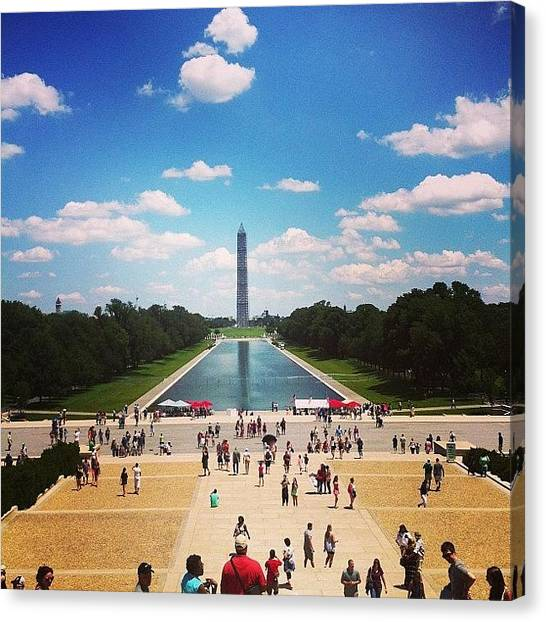 Washington Monument Canvas Print - Standing Tall by Mrs Cobb