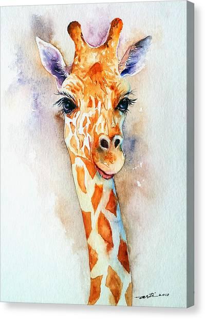 Standing Tall_giraffe Canvas Print
