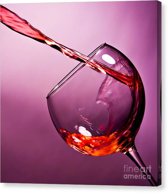Wine Art Canvas Print - Standing Water by Matthew Trudeau