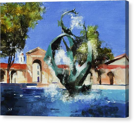 Stanford University Canvas Print - Stanford Claw by Stan Fellows