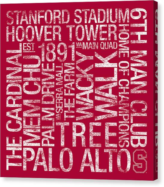 College Canvas Print - Stanford College Colors Subway Art by Replay Photos