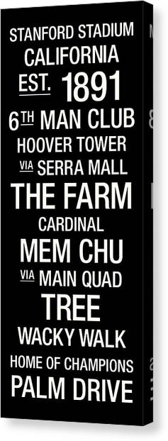 Stanford University Canvas Print - Stanford College Town Wall Art by Replay Photos