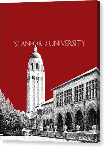 Stanford University Canvas Print - Stanford University - Dark Red by DB Artist