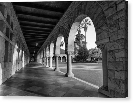 Junior College Canvas Print - Stanford University Columns In Black And White by Priya Ghose