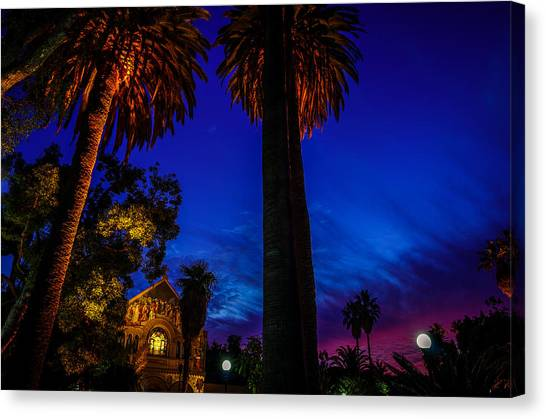 Stanford University Canvas Print - Stanford University Memorial Church At Sunset by Scott McGuire