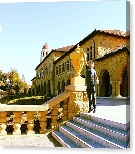 Stanford University Canvas Print - #stanford #university #starbucks by Armando Rivera