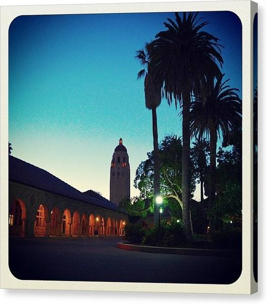 Stanford University Canvas Print - Stanford University's Hoover Tower by Brandon McClintock