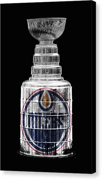 Edmonton Oilers Canvas Print - Stanley Cup 11 by Andrew Fare