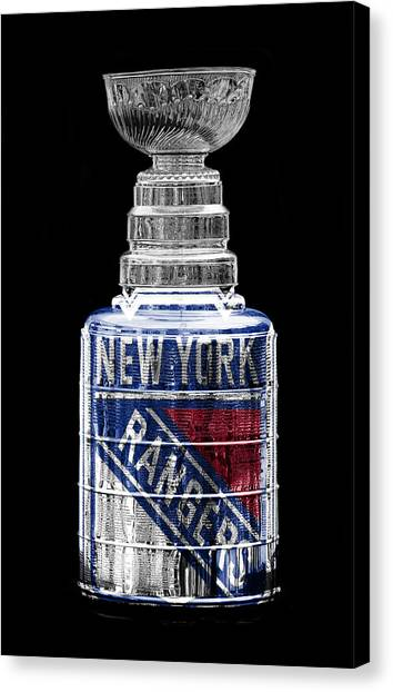 New York Rangers Canvas Print - Stanley Cup 4 by Andrew Fare