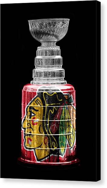Blackhawk Canvas Print - Stanley Cup 6 by Andrew Fare