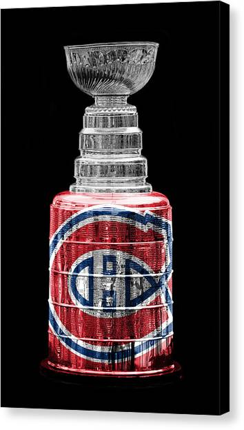 Montreal Canadiens Canvas Print - Stanley Cup 7 by Andrew Fare