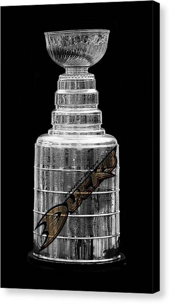 Anaheim Ducks Canvas Print - Stanley Cup Anaheim by Andrew Fare