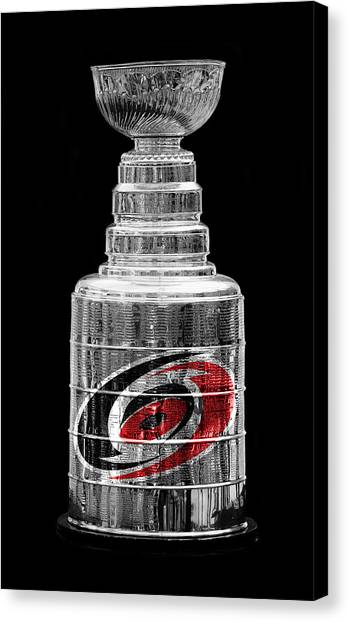 Carolina Hurricanes Canvas Print - Stanley Cup Carolina by Andrew Fare