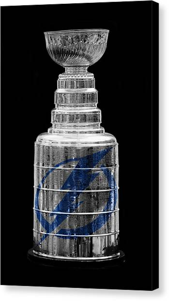 Tampa Bay Lightning Canvas Print - Stanley Cup Tampa by Andrew Fare