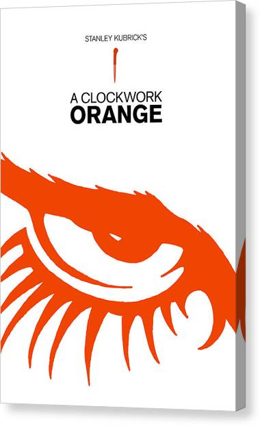 Clockwork Orange Canvas Print - Stanley Kubrick A Clockwork Orange Movie Poster by Kevin Trow