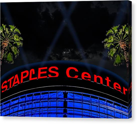 La Clippers Canvas Print - Staples Center - Downtown Los Angeles by Brian Yasumura Jr
