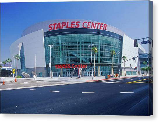 La Lakers Canvas Print - Staples Center, Home To The Nbas Los by Panoramic Images
