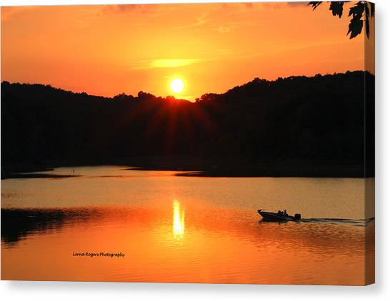Star Burst Sunset Canvas Print