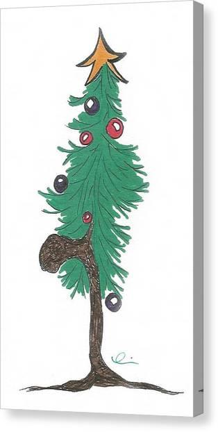 Star Christmas Tree Canvas Print