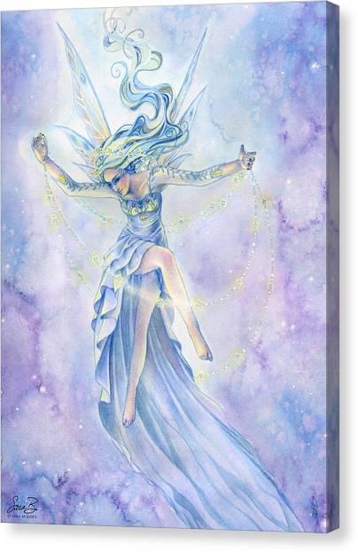 Celestial Canvas Print - Star Dancer by Sara Burrier