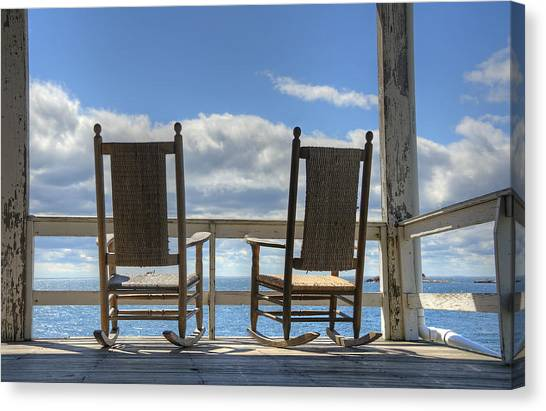 Star Island Rocking Chairs Canvas Print