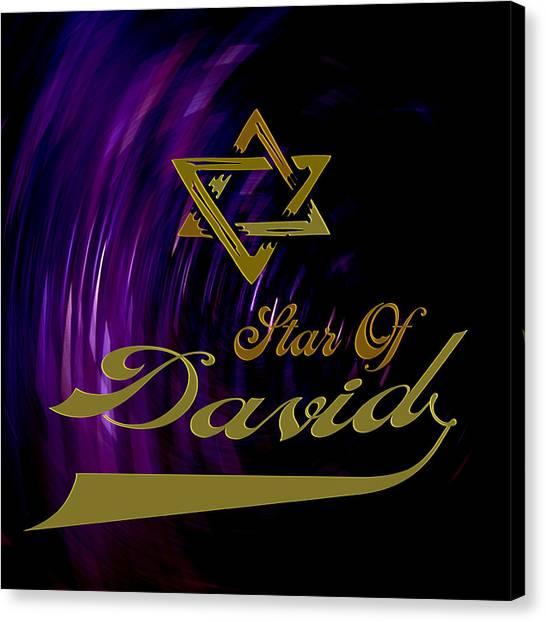 Star Of David Canvas Print by Daryl Macintyre