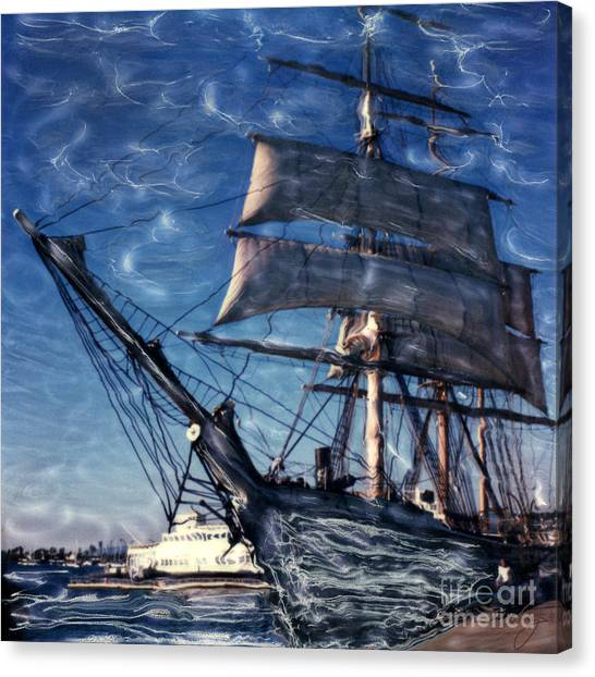 Star Of India Ghost Ship Canvas Print